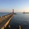9/23の深日港 赤灯台