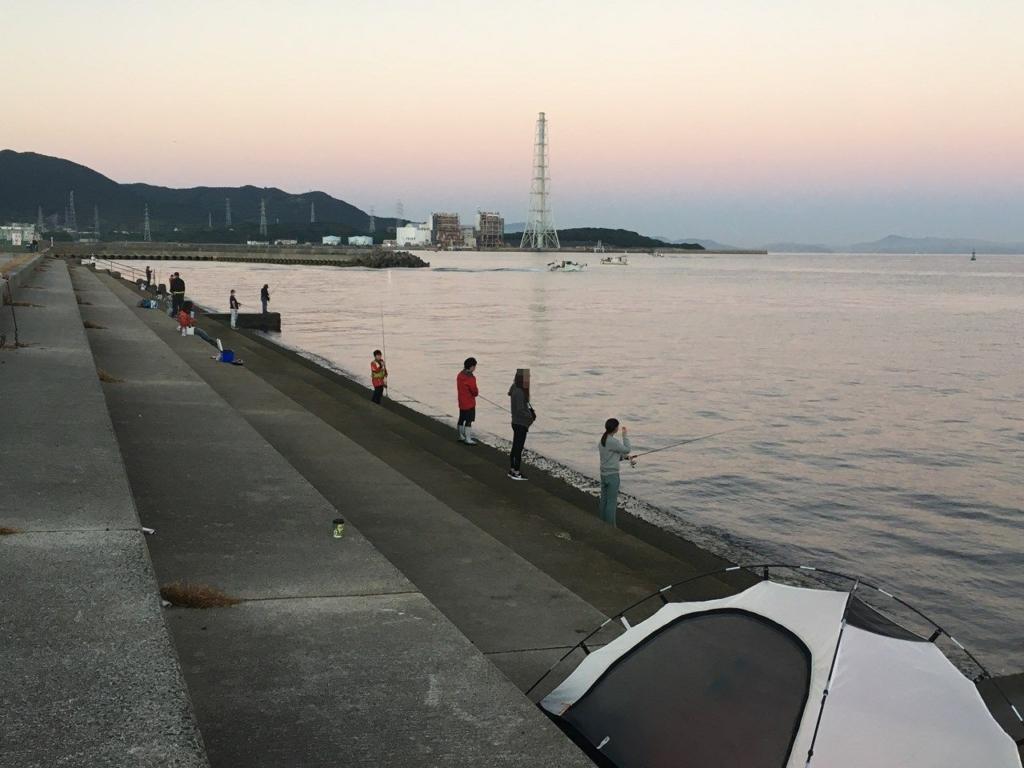 10/10の深日漁港