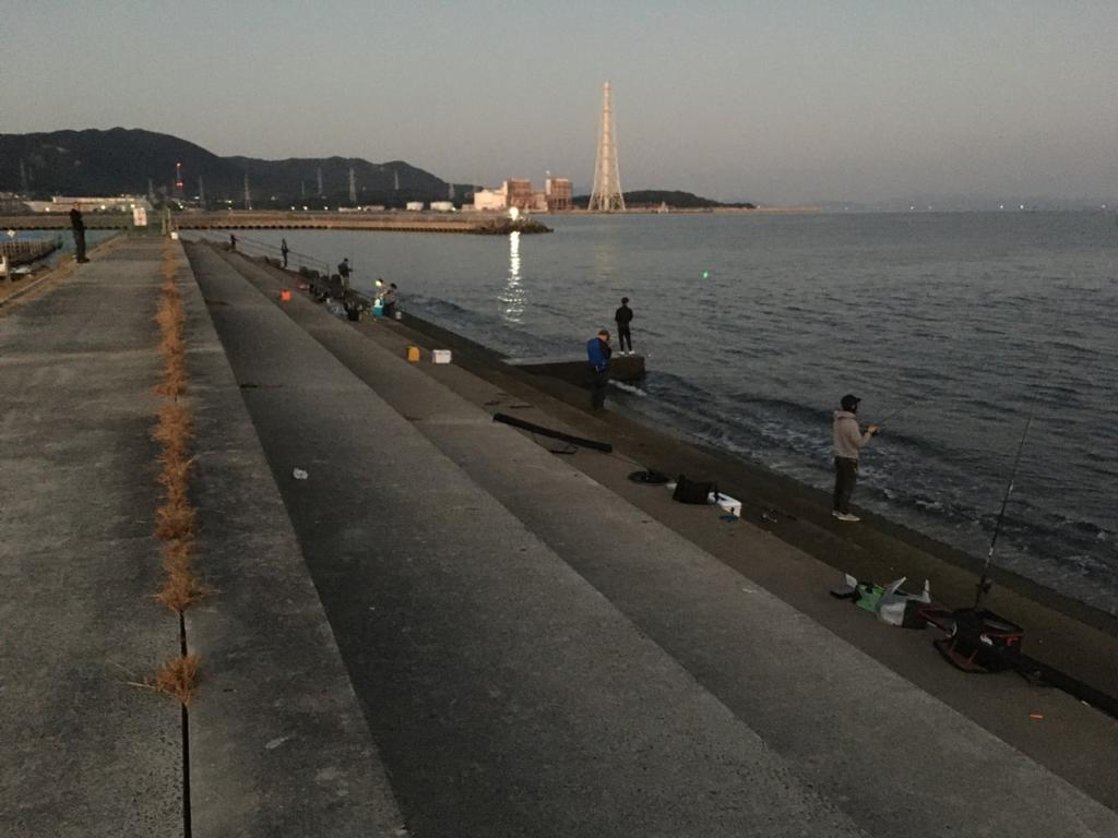 10/16の深日漁港